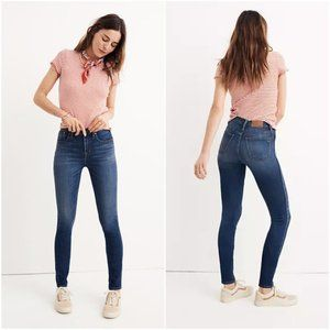 "Madewell 10"" High Rise Skinny Jeans in Danny Wash"